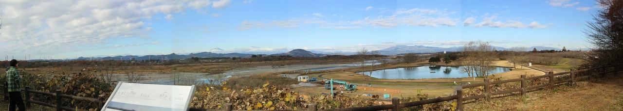 鬼怒川から栃木の名峰を望む