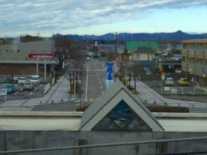 氏家駅から西口方面