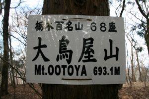 栃木百名山第90座大鳥谷山:蛭山なので冬場がおすすめ