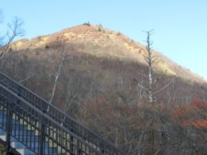 トレーニングの階段:霧降高原天空の回廊