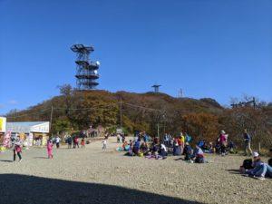 秋晴れの筑波山は大渋滞