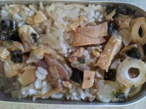 山ご飯⑨:焼き鳥と松茸の味お吸物炊き込みご飯